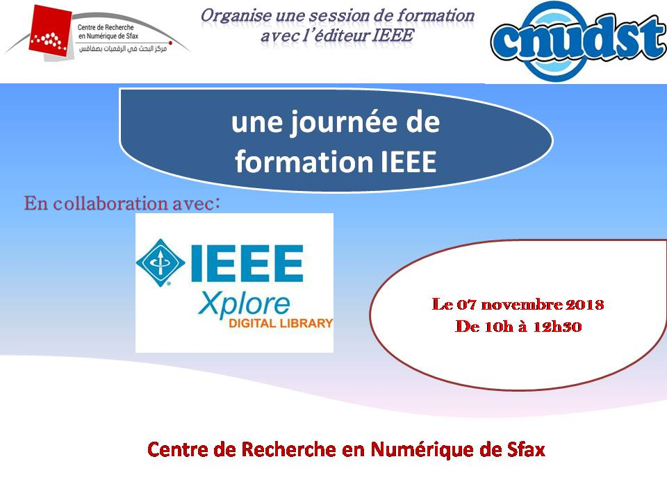 Training session of CNUDST with the publisher IEEE