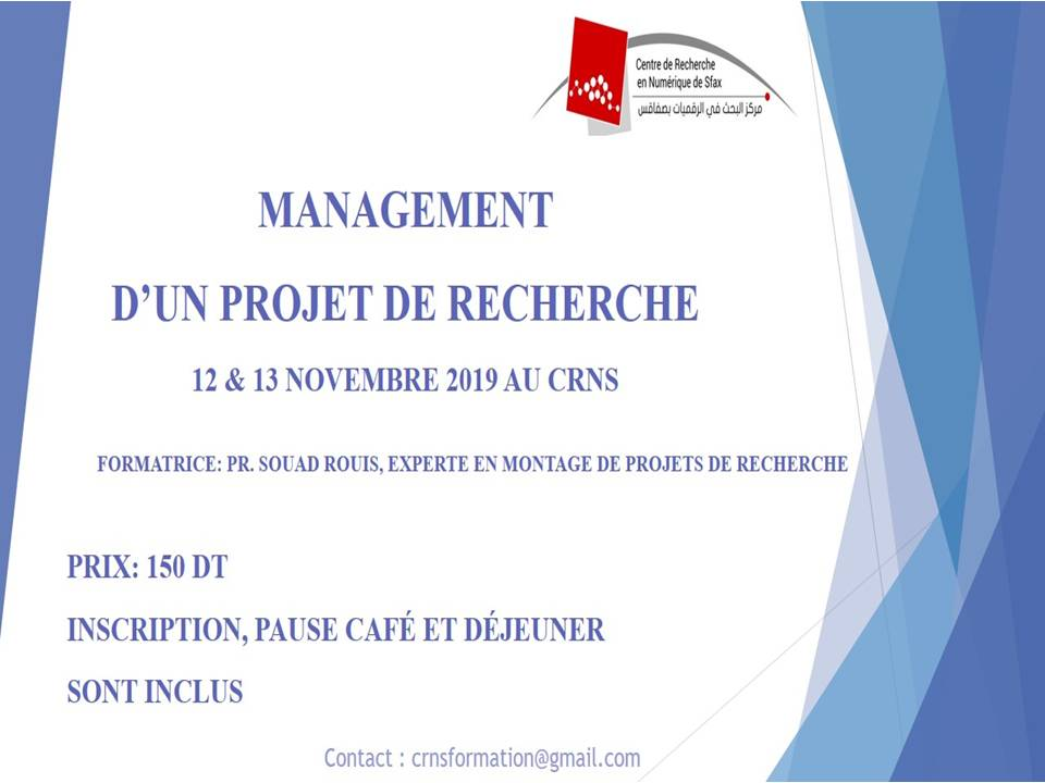 "Training on ""the management of a research project the management of a research project"""