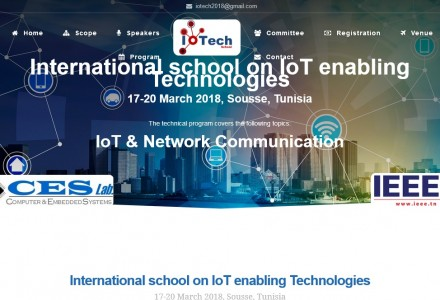 International School on IoTEnabling Technologies - IoTech 2018